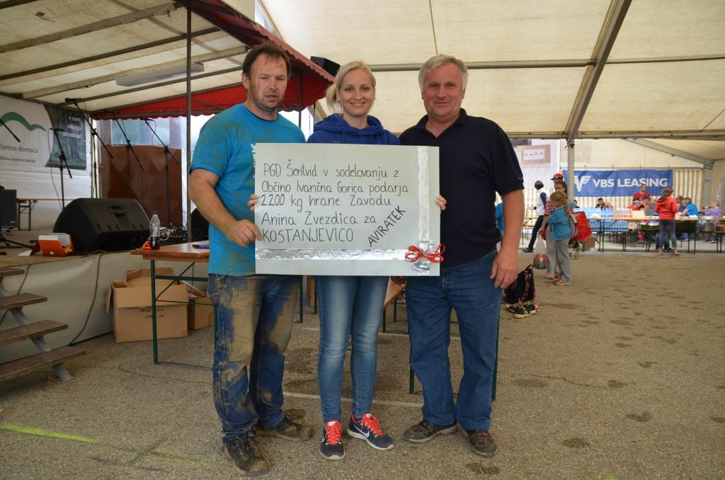 2200 kg hrane Anini zvezdici za Kostanjevico na Krki